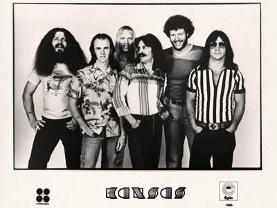 1970s publicity photo of Kansas