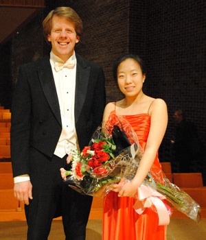Seventeen-year-old violinist Laura Park, winner of the 2010 Arthur D. Montzka Young Artists Concerto Competition, performed recently with the Kishwaukee Symphony Orchestra under the direction of Linc Smelser.