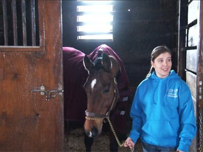 Sarah Stuebing and her horse, Raisin