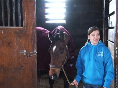 Sarah Stuebing and her horse, Raisin