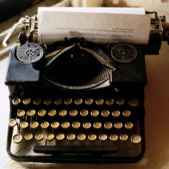 Photo of antique typewriter