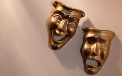 Photo of comedy and tragedy masks