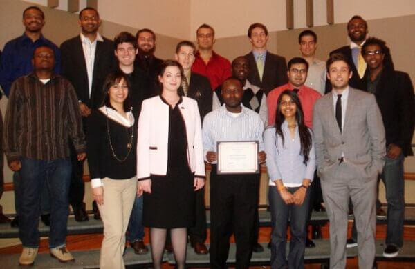 Members of NIU's Engineers Without Borders chapter