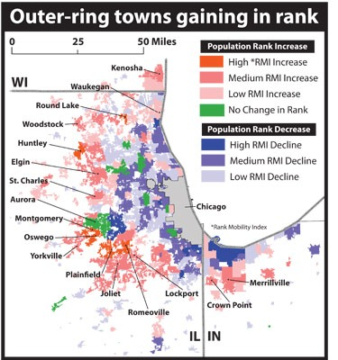 Chart: Outer-ring towns gaining in rank