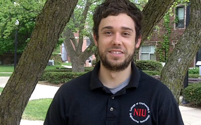 NIU engineering student Alan Hurt