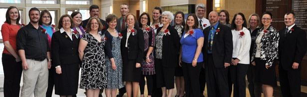 Math teachers from Rockford and their NIU professors