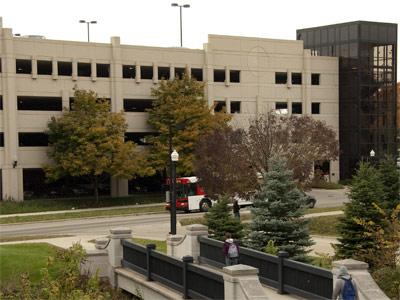 Photo of the NIU parking garage