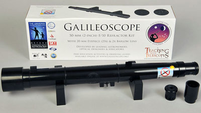 Participants can assemble telescopes like those used by Galileo.