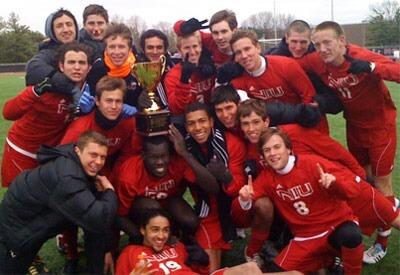 Huskie men's soccer team
