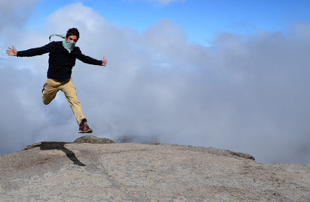 NIU student Alan Hurt reaches the top of Mt. Kilimanjaro.