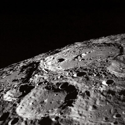 NASA image of craters on the moon.