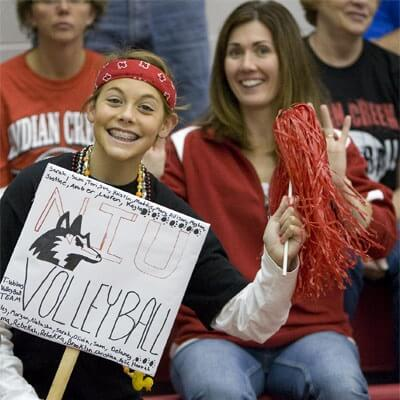 Fans of NIU Huskies volleyball