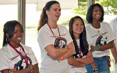 High school students from across Illinois attended NIU's HELP Camp.