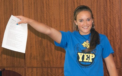 Local teens involved in the DeKalb County Community Foundation's Youth Engaged in Philanthropy program worked with the HELP campers.