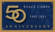 Peace Corps 50 Year Anniversary logo