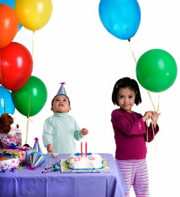 Photo of children at a birthday party