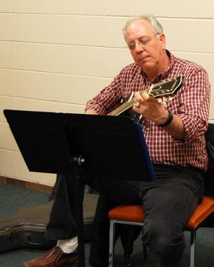 Community School of the Arts adult guitar student