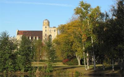 Davis Hall in autumn