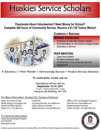 Huskies Service Scholars poster