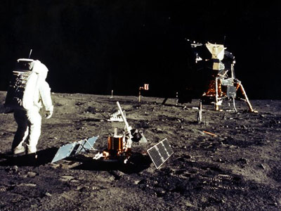 """The Lunar Module """"Eagle"""" touched down July 20, 1969, in the Sea of Tranquility."""