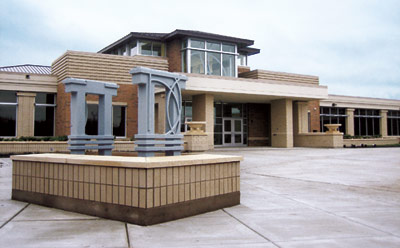 The new DeKalb High School on Dresser Road is ready to greet students.