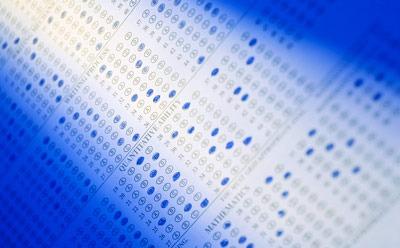 Photo of a standardized test form