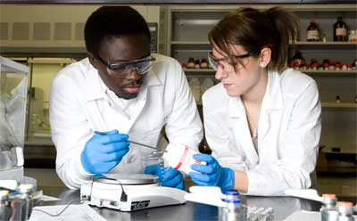 NIU chemistry students