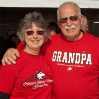 Photo of an NIU grandma and NIU grandpa