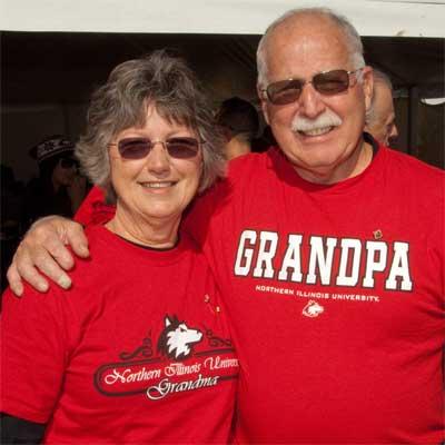 Photo of an NIU grandma and NIU grandpa