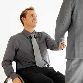 Photo of a business executive in a wheelchair