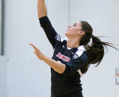 Volleyball team falls 3-1 to Eastern Michigan