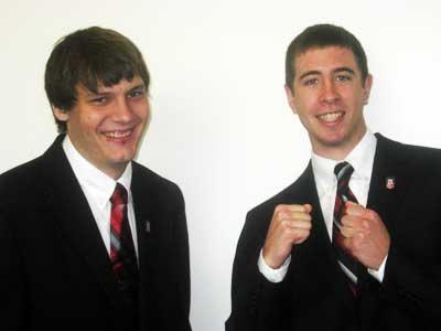 Austin Schulte (left) and Sam Kunde