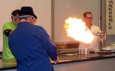 A demonstration of dragon's breath.