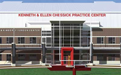 Kenneth and Ellen Chessick Practice Center. Image courtesy HKM Architects + Planners, Inc.