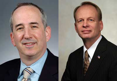 Eric D. Isaacs and Leland A. Strom were awarded honorary doctorates from NIU in the spring of 2011.