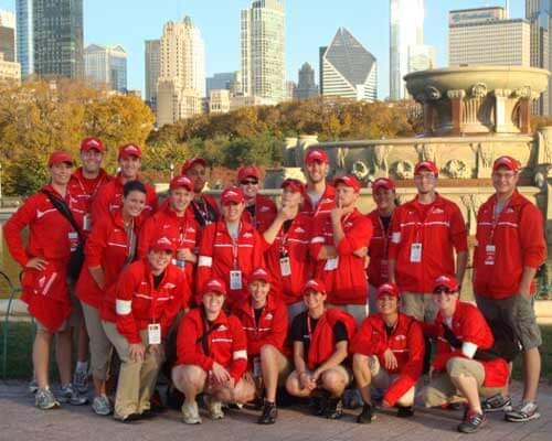 NIU athletic training students at last year's Chicago Marathon
