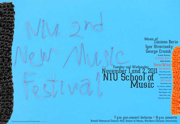 Poster for NIU 2nd New Music Festival