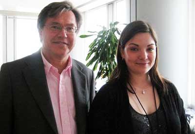 Nora Lindvall and Czech politician Libor Roucek