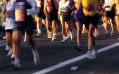 Photo of runners in a road race