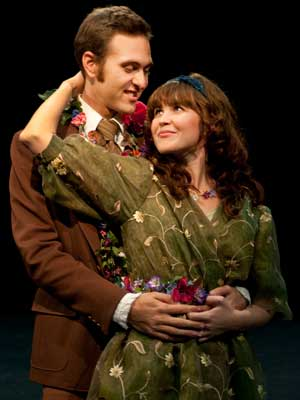 """Kendra Holten Helten as Perdita and Drew Mierzejewski as Florizel are MFA in acting candidates appearing in William Shakespeare's """"The Winter's Tale."""""""