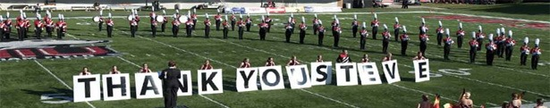 The NIU Marching Band thanks Steve Kalber for his gift.