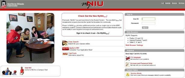 MyNIU portal beta site