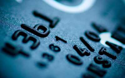 Close-up photo of credit card