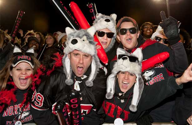 NIU Huskie football fans rock the stands!