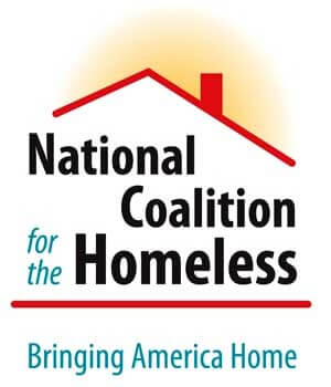 Logo of the National Coalition for the Homeless: Bringing America Home