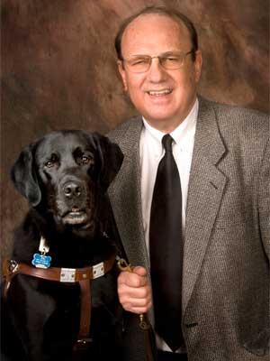 Gaylen Kapperman and his dog, Judd