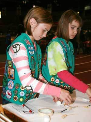 Girl Scouts earned Passport to My Future badges.