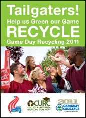 Tailgaters! Help us Green our Game poster