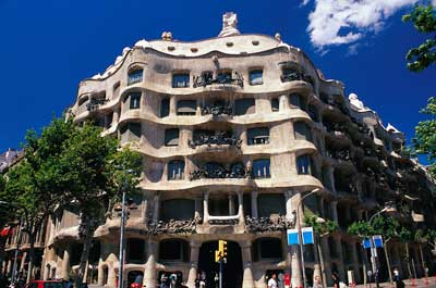 A photo of Casa Milà in Barcelona.