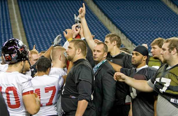 The Huskies end practice Thursday at Ford Field.